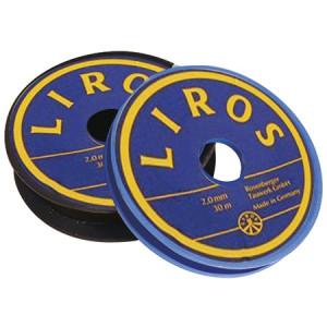 Gewachste Polyester-Schnur Schnur Liros 1,5 mm 20mt blau