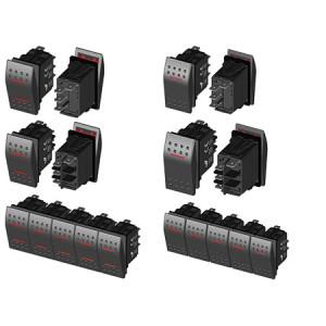 Wasserdichter LED-Schalter rot Wc IP68 (Ein) -Aus