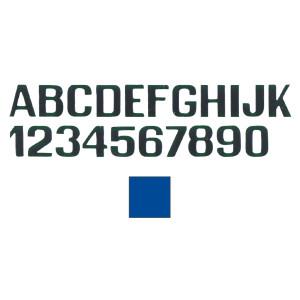 hellblaue Buchstaben und Zahlen 100 mm Nummer 8
